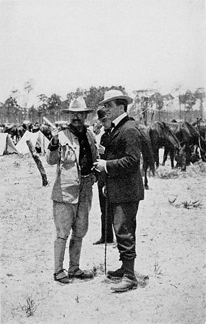 Richard Harding Davis - Davis with Theodore Roosevelt in Tampa, FL, 1898.