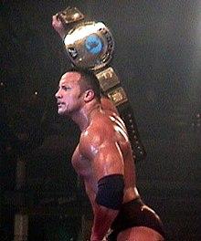 The Rock con il WWF Championship nel 2000