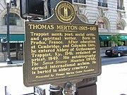 Marker commemorating Merton in Downtown Louisville