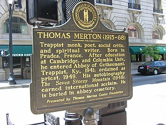 Thomas Merton - Marker commemorating Thomas Merton in Louisville, Kentucky