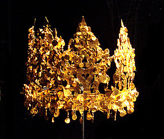 Tillya Tepe - Crown from Tomb VI (female owner)
