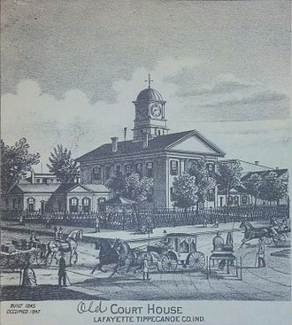 Tippecanoe County Courthouse - The old courthouse, built in 1845