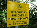 Tiverton , The Castle Primary School Sign - geograph.org.uk - 1375781.jpg