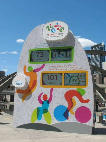 Countdown clock in Nathan Phillips Square To2015countdownclock.png