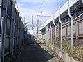 Tokaido Shinkansen Nishi-Kumadou set-off yard & approach way.jpg
