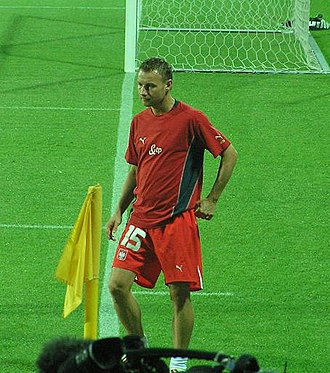 Tomasz Frankowski - Tomasz Frankowski during a match between Poland and Wales.