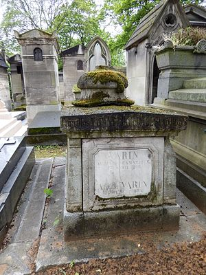 Charles Varin - Charles Varin's grave at the Père Lachaise cemetery, (67th division)
