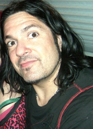 Tommy Victor - Victor on the tour bus with Ministry in Toronto, in May, 2008.