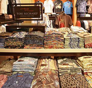 Aloha shirt - Tori Richard aloha shirts in a store