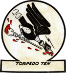 Torpedo Squadron 10 (United States Navy) insignia, 1943.png