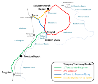Torquay Tramways - The routes operated