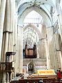 Tower crossing and organ at York Minster.jpg