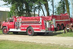 Town of Burnett fire trucks
