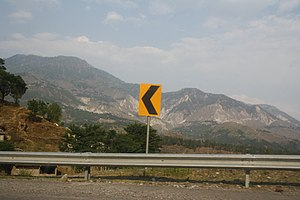 Road signs in Pakistan - Traffic logo in Naran