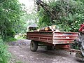 Trailer on tractor in timber yard at Ansty - geograph.org.uk - 1365536.jpg