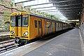 Train, Green Lane Railway Station, Birkenhead (geograph 2986357).jpg