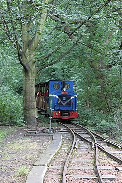 Abbey light railway wikipedia train of abbey light railway approaching kirkstall abbey station geograph 5670252g mozeypictures Choice Image