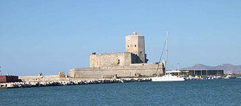 Il castello della Colombaia a Trapani