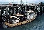 Trawler at Darwins Stokes Hill Wharf in 1978 (4673047561).jpg