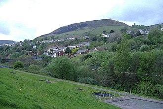 Trealaw - Image: Trealaw, viewed from Dinas geograph.org.uk 414391