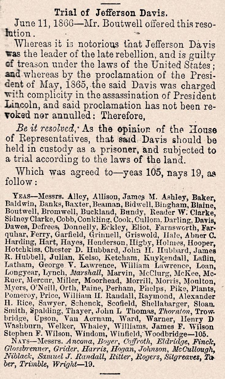 Trial of Jefferson Davis