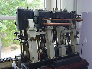 Compound steam engine - Model of a triple-expansion engine