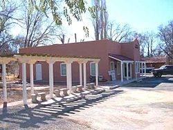 Tularosa Public Library building and ramada.jpg