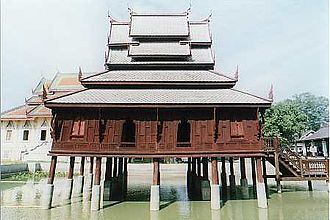 Ubon Ratchathani Province - Library, Tung Sri Muang temple, illustrates typical Isan-style.