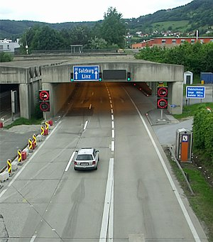 Straßgang - The Plabutschtunnel at the south portal.