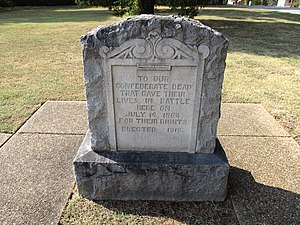 Battle of Tupelo - Monument to Confederate dead