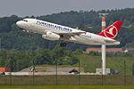 Turkish Airlines Airbus A319-132; TC-JLU@ZRH;08.06.2013 709dh (8990295865).jpg