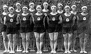 Turnerinnen der niederländischen Goldriege von 1928