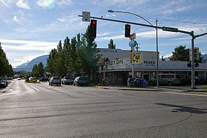 North Bend, Washington - Downtown North Bend. Twede's Cafe from Twin Peaks is on the right.