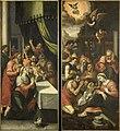 Twee zijluiken van een altaarstuk met de besnijdenis (links) en de aanbidding der herders (rechts) Rijksmuseum SK-A-1599.jpeg