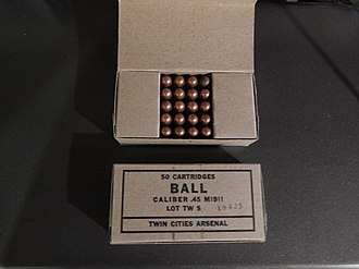 Twin Cities Army Ammunition Plant - Fifty round package of .45 ball ammunition from 1948