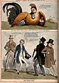Two British political satirical scenes. Coloured lithograph, Wellcome V0011362.jpg