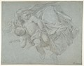 Two Putti Supporting the Lower Part of a Draped Figure (recto); Two Putti (verso) MET DP810083.jpg