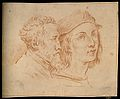Two portraits; one unidentified, the other (right) of Raphae Wellcome V0009297.jpg