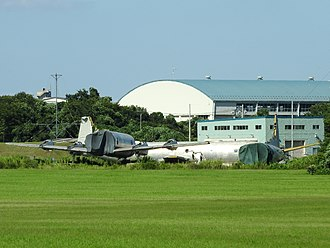 Naval Air Facility Atsugi - Scrapped P-3 Orions at Atsugi in 2016