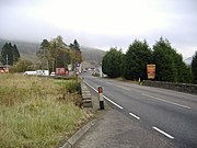 An unusually quiet road scene at Tyndrum