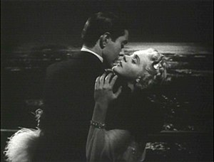 Romance film - Tyrone Power passionately, lovingly, embraces Alice Faye in the 1938 film Alexander's Ragtime Band.