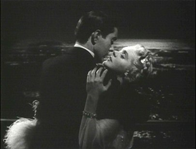 Tyrone Power passionately embraces Alice Faye in the 1938 film Alexander's Ragtime Band. Tyrone power alice faye ragtime6.jpg