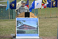 U.S. Army Col. Jeffrey B. Clark, the commander of Europe Regional Medical Command, delivers remarks at the groundbreaking ceremony for the new Vilseck Health Clinic at Grafenwoehr in Bavaria, Germany, April 12 130412-A-BS310-012.jpg