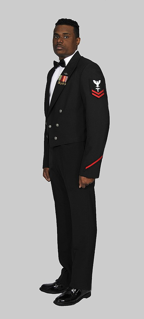 Fileus Navy Fmf Corpsman In Dinner Dress Blue Jacket Uniform