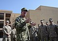 U.S. Navy Vice Adm. John W. Miller, center, commander of U.S. Naval Forces Central Command, U.S. 5th Fleet, Combined Maritime Forces, speaks with Marines assigned to Fleet Anti-Terrorism Security Team Company 130828-N-VY489-006.jpg
