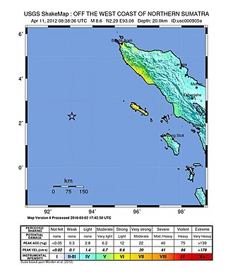 2012 Indian Ocean earthquakes - USGS ShakeMap for the M8.6 event