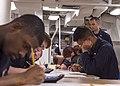 USS Fitzgerald Sailors take the E-4 advancement exam 160317-N-GW139-009.jpg