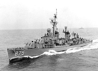 USS Henry W. Tucker - View of ship prior to 1963 FRAM upgrade and reclassification.