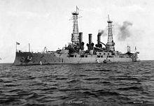 April 18: USS Kansas (BB-21).