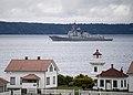 USS Shoup departs Naval Station Everett. (34207685074).jpg